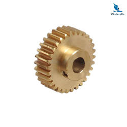 CNC Machining Brass Motor Pinion Gear Wheels