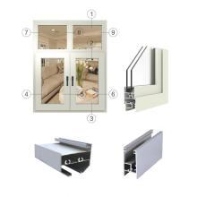 Profils de fenêtres en aluminium à revêtement en poudre à rupture thermique