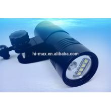 V14 Scuba Torch 32650 Vidéo Plongée Lumière avec support à bille 100M