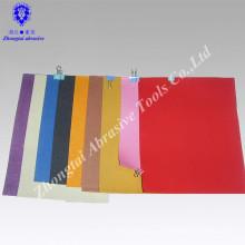 Рисунок белый алюм А4 оксида наждачной бумагой с цветной печатью