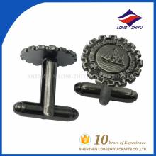 Vente en gros de boutons de manche en métal personnalisés de haute qualité avec votre propre logo