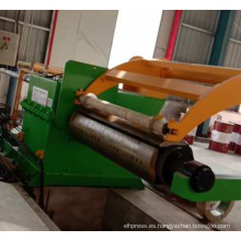 Máquina de línea de corte longitudinal de bobinas de acero con alto contenido de carbono