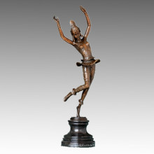 Estatua del bailarín Escultura de bronce feliz de la señora, G. Schmidt-Cassel TPE-397