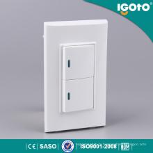 Igoto B513 Interrupteur à 2 lumières murale tactile pour système Home Home