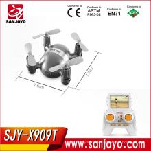 MJX X909T 5.8G Mini FPV Quadcopter Com Câmera HD 3D Flips Controle Remoto Nano Quadcopter Mini Drone Modo RTF SJY-MJX-X909T