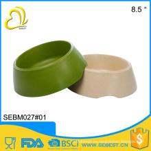 mejor venta de E-CO melamina de bambú redondo perro tazón