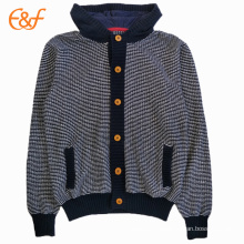 Hooded Cardigan Sweater Jacket with Pockets For Men