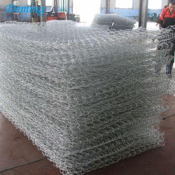 SGS Factory 80*100mm Woven Hexagonal Heavy Duty Galvanized Glass Rock for Gabion