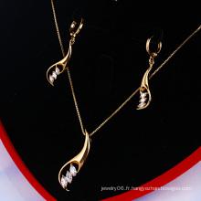 Ensemble de bijoux élégant Xuping en or 18 carats (60746)