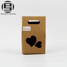 Sac-cadeau en papier kraft alimentaire avec fenêtre
