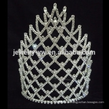 Coroa cor-de-rosa 7inch coroa o Pageant coroa a tiara