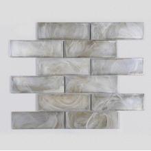 Carreaux d'entrée en mosaïque de verre motif nuage blanc maison