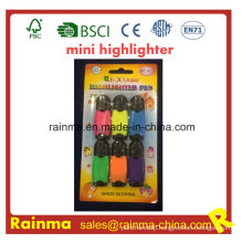 Advertisement Highlighter Marker 6PCS Blister Packing
