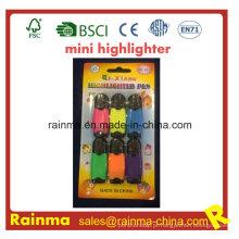 Marcador de marca-texto 6PCS Embalagem de blister