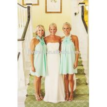 Bare Back Knielänge nach Maß formale kurze Brautjungfer Kleid für Hochzeitsfest CY014 Porzellan Brautjungfer Kleider