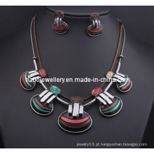 Conjunto de colar de design shell / conjunto de jóias de moda (xjw13213)