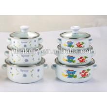 Wholesale Quality guarantee porcelain enamel cookware mini casserole sets china product of enamel kitchen utensil
