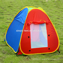 children playing pop up tent