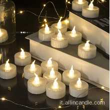 Candele LED Tea Light per matrimoni doorgift