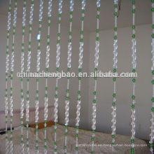 Ubicación de la sala de estar y característica retardante de llama reborde cortina