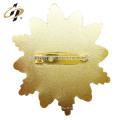 Finement traité haute qualité en alliage de zinc or flocon de neige