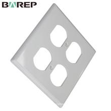 Placas de cobertura elétrica do interruptor modular plástico da certificação YGC-002