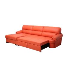 Orange Modern Sofa Design Elegance Leather Sofa Living Room Sofa Bed