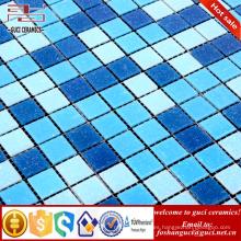 Productos calientes de la venta de la fábrica de China azules mezclados calientes - azulejo de mosaico de suelo de la fusión