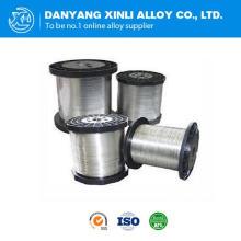Fabricación Nichrome Cobre Nickel Calefacción Eléctrica alambre 0.025mm Cr30ni70