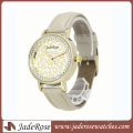 Light Gold Case Fashion Pattern Dial Ladies Watch