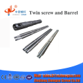 65/132 80/156 etc. conical twin screw barrel for PVC pipe/profile in China