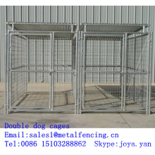 Factory supplying pets runs cages fence panels dog cages modulars dog cages double dog cages