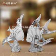 Крытый смолы декоративные статуи продает высококачественные лаки рыба декор смолы