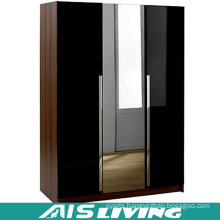 Customize Modular Pull out Glass Mirror Wardrobe (AIS-W785)