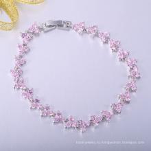 Красивый розовый CZ дешевые браслеты фандрайзинг
