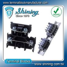 TD-015 AWG 14 Double pont 600V 15 ampères PCB Screw Terminal Block