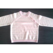 Fabricante profesional al por mayor 12gg rayó el diseño puro del suéter del bebé de la cachemira