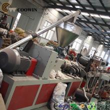 PE plástico WPC do PVC que faz a linha de produção da máquina / maquinaria do perfil de WPC para o Decking