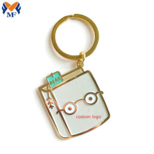 Gift Metal Reading Book Lover Enamel Keychain