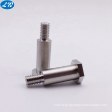 Custom made stainless steel cnc lathe machining precision nonstandard M8 hex head bolts