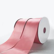 Venta al por mayor de poliéster personalizado doble cara satinado cinta con su logotipo