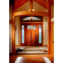 Portas de entrada de madeira maciça Hotsale para Villa, Hotel