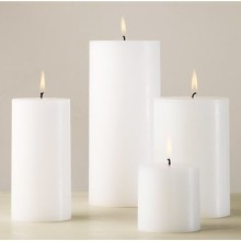 Kaarsen wit ongeparfumeerde decoratieve Pillar Candle