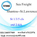 Shantou Port LCL Consolidation To St.Lawrence