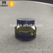 Glasgesichtscreme-Glas-leerer Frauen-kosmetischer Flaschen-Behälter mit Aluminiumkapsel-Phiole