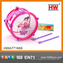 Girl's Pink Plastic Drum Music Toys