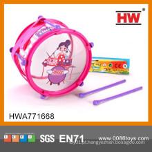 Brinquedos da música do cilindro plástico cor-de-rosa da menina