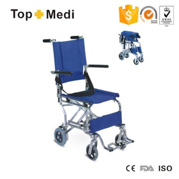 Silla de ruedas de transporte de avión portátil ligera de aluminio Topmedi