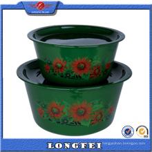 Nuevo estilo 2 PCS Deep Color esmalte Bowl Set