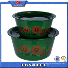 New Style 2 PCS Deep Color Enamel Bowl Set